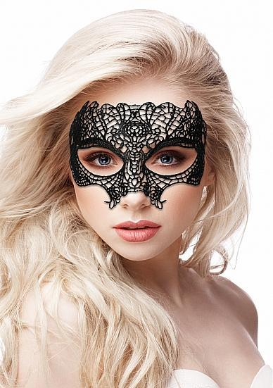 Princess Black Lace Mask Black