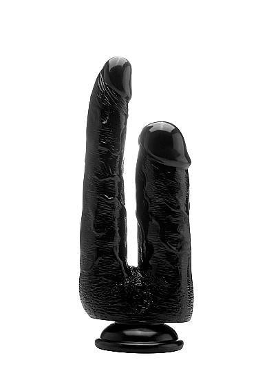 Shots Realistic Double Cock 9 Inches Black Dildo
