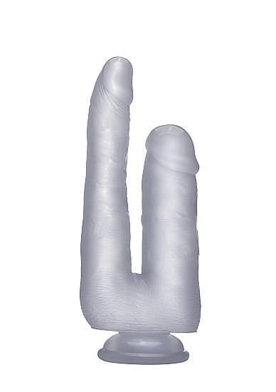 Realistic Double Cock 9 inches Dildo Translucent Clear