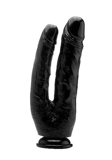 Realistic Double Cock 10 inches Dildo Black