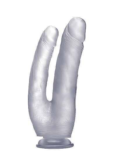 Realistic Double Cock 10 inches Dildo Clear