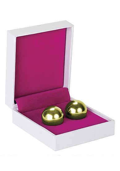 Ben Wa Balls Medium Weight Metal Gold