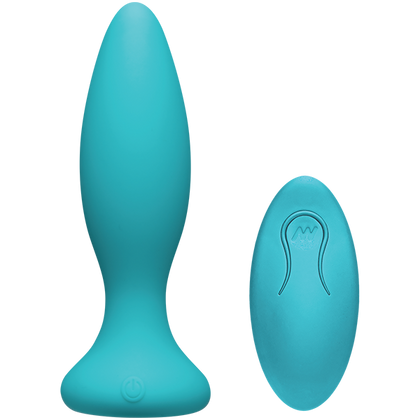 A-Play Vibe Beginner Anal Plug With Remote Control Teal