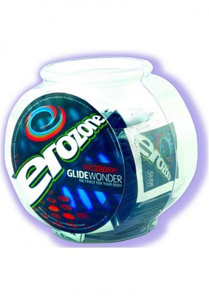 Erozone Glide Wonder Silicone Lubricant Fishbowl Pillows 100 Per Bowl