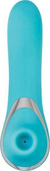 French Kiss Her Clitoral Stimulator Blue Vibrator