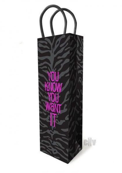 You Know You Want It Gift Bag - Dick and Jane Adult Emporium