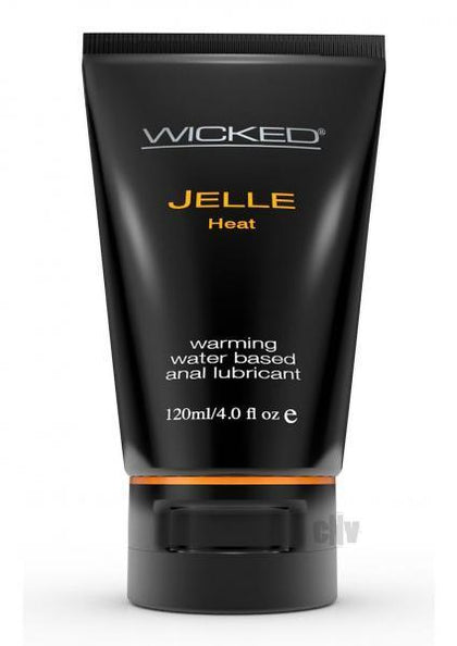 Wicked Jelle Heat Anal Gel Lubricant 4oz - Dick and Jane Adult Emporium
