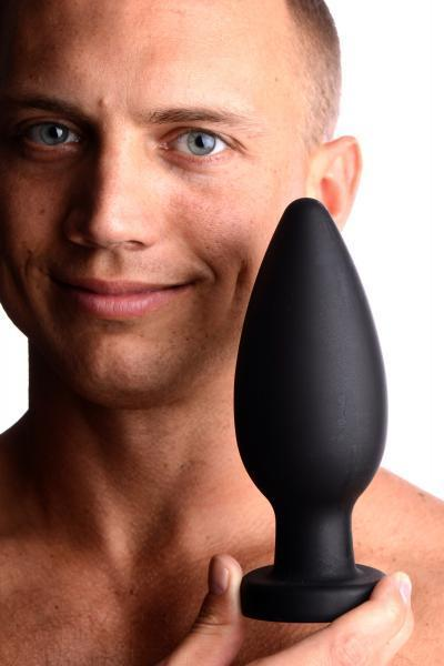 Colossus XXL Silicone Anal Plug Suction Cup Black - Dick and Jane Adult Emporium