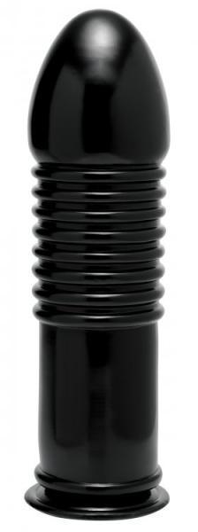 The Enormass Ribbed Plug with Suction Base Black - Dick and Jane Adult Emporium