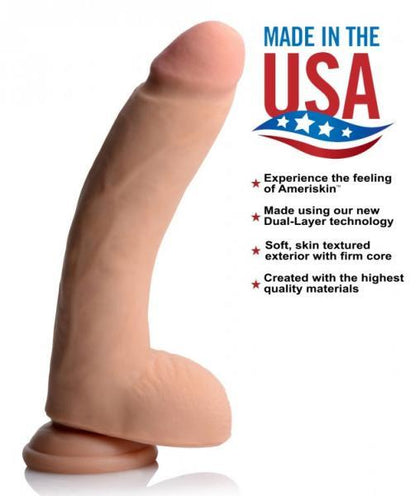 USA Cocks 10 Inches Ultra Real Dual Layer Suction Cup Dildo - Dick and Jane Adult Emporium
