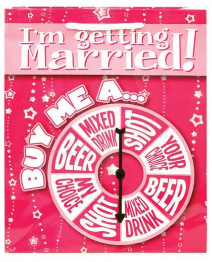 I'm Getting Married Buy Me A Spinner Gift Bag - Dick and Jane Adult Emporium