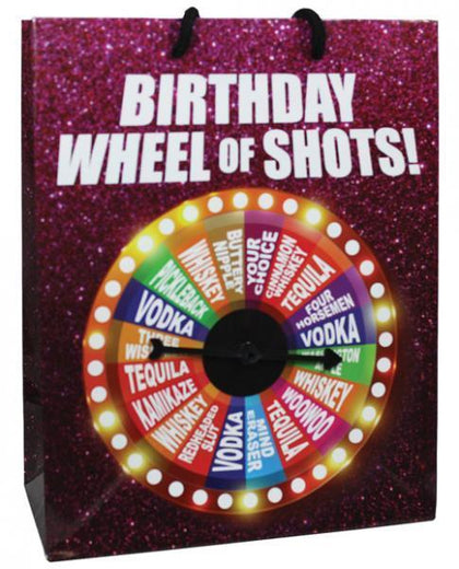 Birthday Wheel Of Shots Spinner Gift Bag - Dick and Jane Adult Emporium
