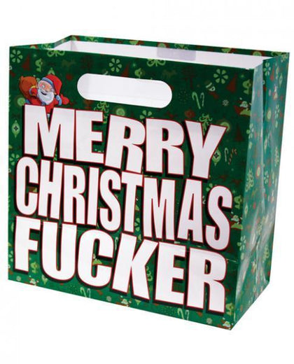 Merry Christmas Fucker Gift Bag - Dick and Jane Adult Emporium
