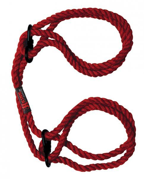 Kink Hogtied Bind & Tie Hemp Wrist Or Ankle Cuffs Hemp Red - Dick and Jane Adult Emporium