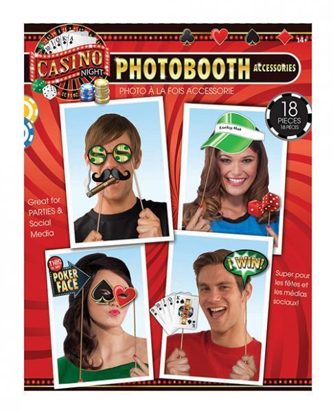 Casino Photo Booth Prop Kit 18 Pieces - Dick and Jane Adult Emporium