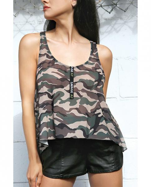 Vibes Savage AF Swing Top Camouflage L/XL - Dick and Jane Adult Emporium