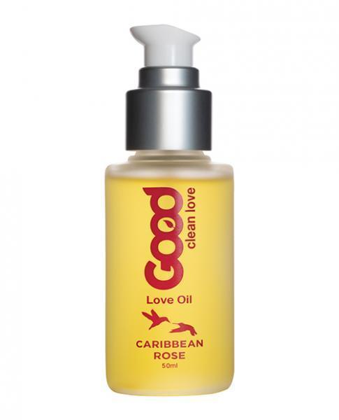 Good Clean Love Caribbean Rose Love Oil 1.69oz - Dick and Jane Adult Emporium