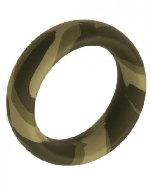 Major Dick Commando Wide 2 inches Camo Ring - Dick and Jane Adult Emporium
