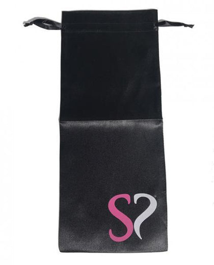 Simpli Trading Large Satin Drawstring Storage Bag - Black - Dick and Jane Adult Emporium