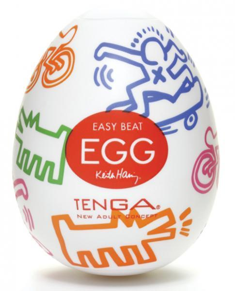 Tenga Keith Haring Easy Beat Egg Street Stroker - Dick and Jane Adult Emporium