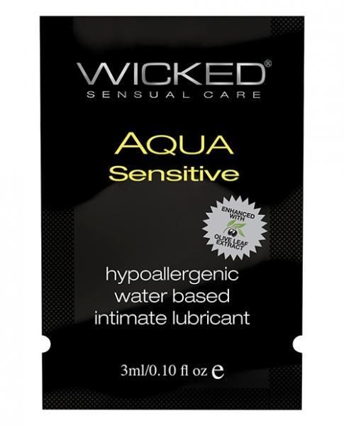 Wicked Aqua Sensitive Water Based Lubricant  .1 oz - Dick and Jane Adult Emporium