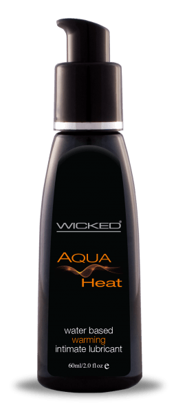 Wicked Aqua Heat Sensation Lubricant 2oz - Dick and Jane Adult Emporium