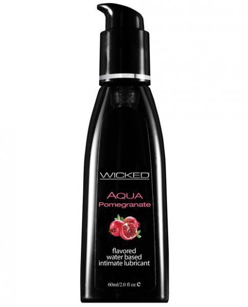 Wicked Aqua Lubricant Pomegranate 2oz - Dick and Jane Adult Emporium