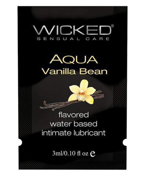 Wicked Aqua Water Based Lubricant Vanilla Bean .1oz - Dick and Jane Adult Emporium