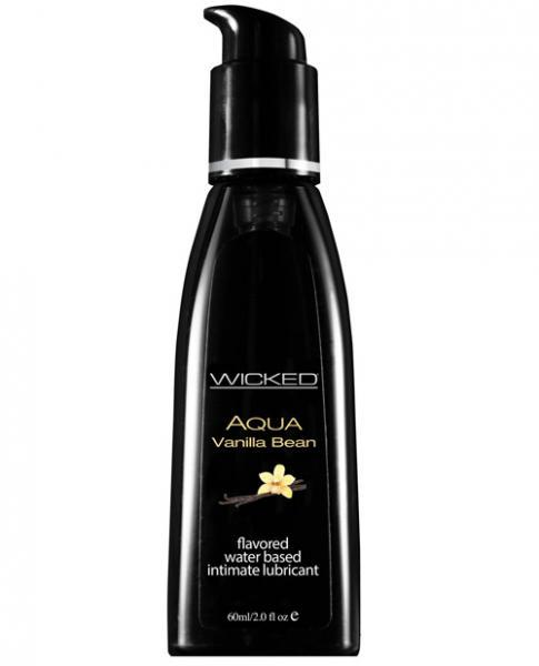Wicked Aqua Waterbased Lubricant Vanilla Bean 2oz - Dick and Jane Adult Emporium