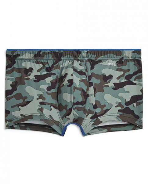2xist Sliq Micro 1 Low Rise Trunks Green Camo Sm