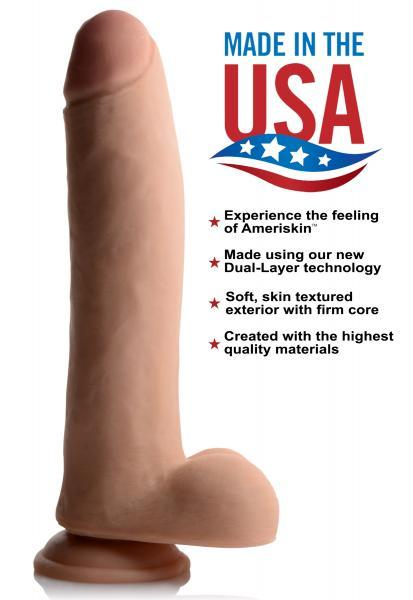 USA Cocks 11 Inches Ultra Real Dual Layer Suction Cup Dildo