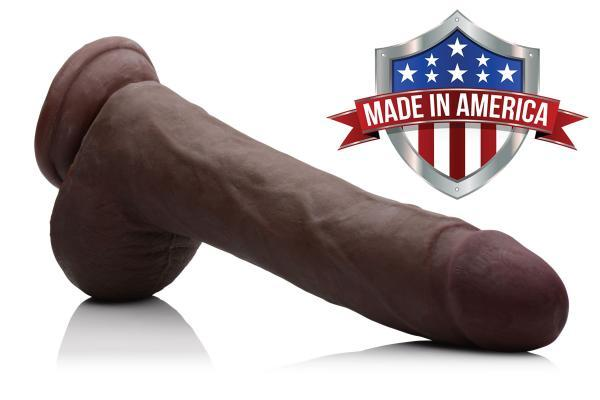 Jamal BBC Skintech Realistic 10 Inches Dildo Brown