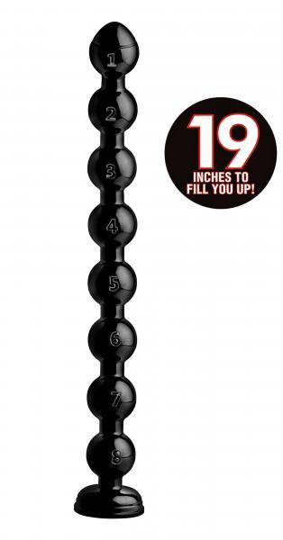 Hosed 19 Inches Beaded Thick Anal Snake Black