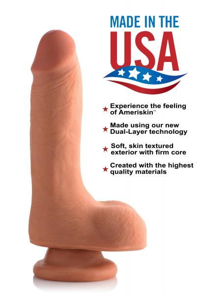 7 Inches Ultra Real Dual Layer Dildo Beige