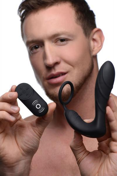 Silicone Prostate Vibrator And Strap With Remote Control