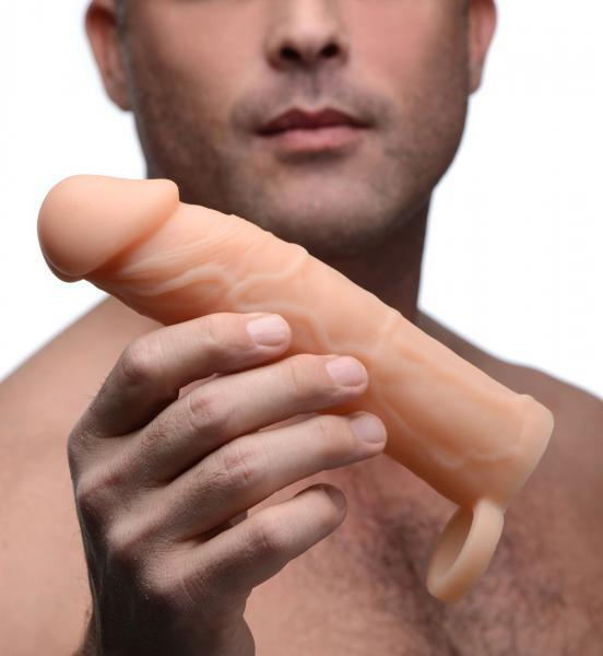 2 Inches Silicone Penis Extension Beige - Dick and Jane Adult Emporium