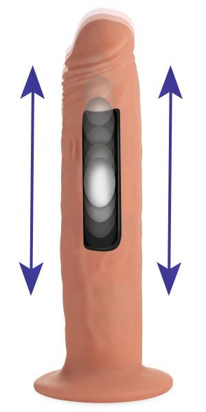 Kinetic Thumping 7X Remote Control Dildo Beige Large