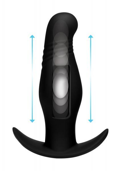 Kinetic Thumping 7X Rippled Anal Plug Black