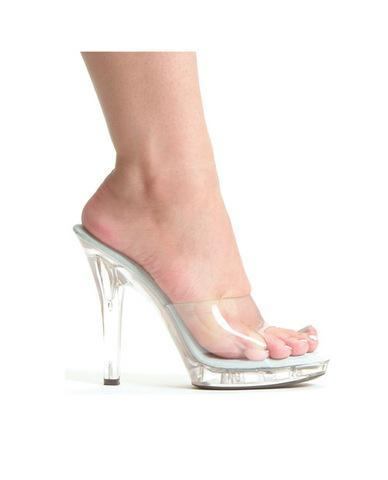 Ellie shoes, m-vanity 5in pump clear ten - Dick and Jane Adult Emporium