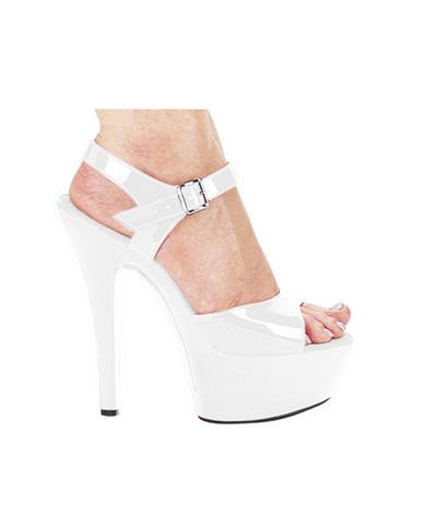 Ellie shoes, juliet 6in pump 2in platform white six - Dick and Jane Adult Emporium