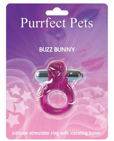 Purrrfect pet cockring clit stimulator bunny - purple - Dick and Jane Adult Emporium