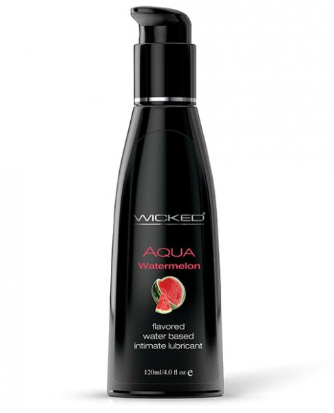 Wicked Aqua Flavored Lubricant Watermelon 4oz