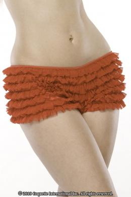 Ruffle Shorts W-Back Bow Red O-S