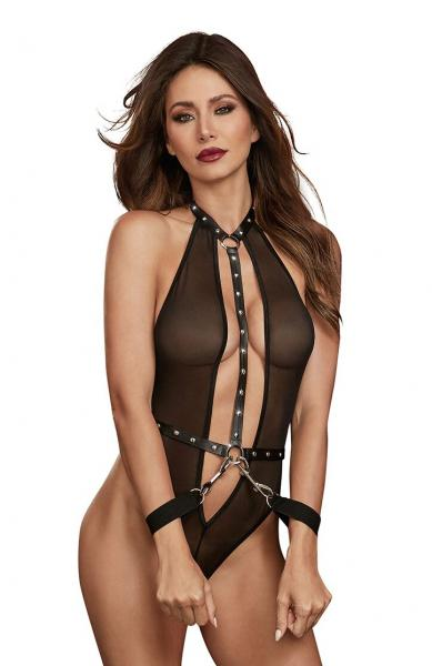 Teddy with Restraints Black O-S