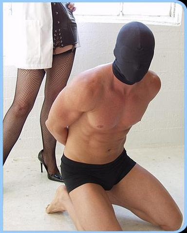 Spandex Hood W- Built In Blindfold