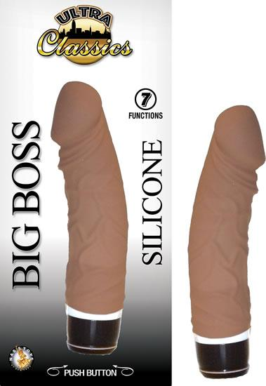 Ultra Classics Big Boss Brown Vibrating Dildo