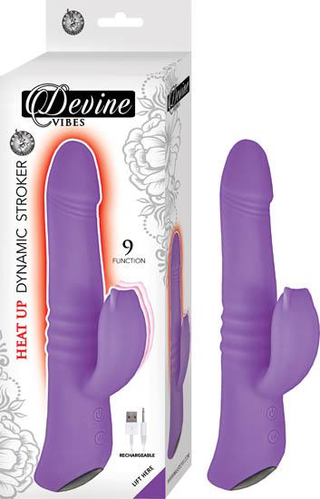 Devine Vibes Heat Up Dynamic Stroker Purple Vibrator