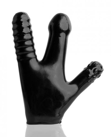 Claw Pegger Glove Black with 3 Soft Finger Dildos
