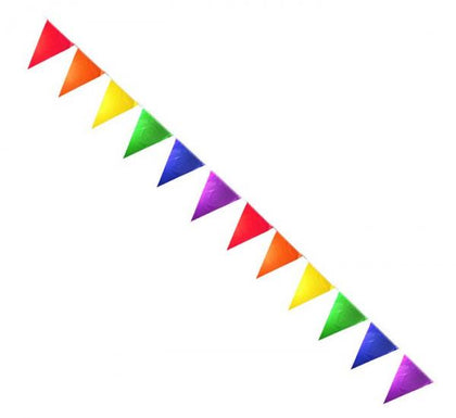Gaysentials Rainbow Solid Pennants Decoration 12 feet