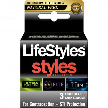 Lifestyles Styles Sensitive Collection Condoms 3 Pack